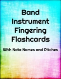 Band Fingering Flash Cards - Baritone Horn (Bass Clef)