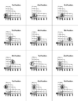 Band Flashcards for Flute, Clarinet, Trumpet, Trombone, and Mallets