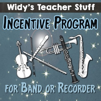 Band Incentive Program For Instrumental, Recorder or Ukelele Music Classes