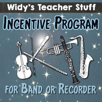 Band Incentive Program For Instrumental, Recorder or Ukelele Music Classes