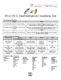 Band Instrument Cleaning Test Rubric