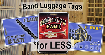 "Band Instrument ""Luggage"" Tags"