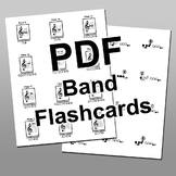 Band Instrument Note & Fingering Flashcard Set - Complete
