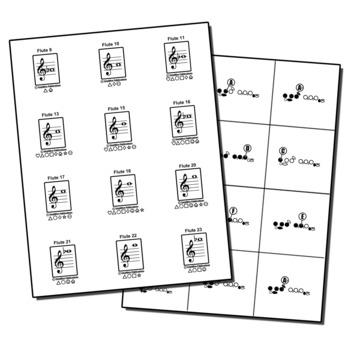 Band Instrument Note & Fingering Flashcard Set - Complete