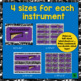 Band Instrument Posters & Labels Set