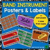 "Music Bulletin Board ""Band Instrument"" Music Decor & Labels Set"