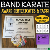 Band Karate Tags & Award Certificates