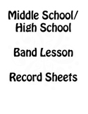 Band Lesson Planning