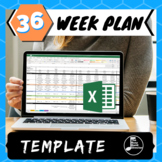 Long Range Pacing/ Curriculum Template - Excel