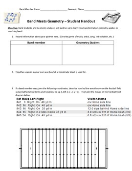 Band Meet Geometry | Transformation Interdisciplinary Activity