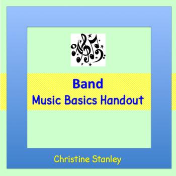 Band:  A Music Basics Handout