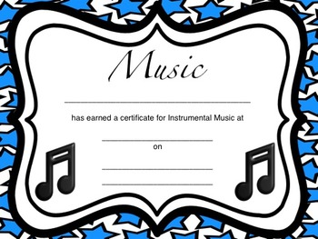 Instrumental Music Certificates
