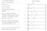 Band Music Lesson Planning Sheet