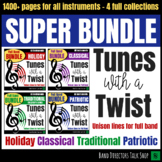 Band Music - Tunes with a Twist SUPER BUNDLE - Unison lines for full band