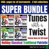 Band Music - Tunes with a Twist SUPER BUNDLE - Unison line