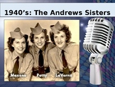 Band Of The Decades: 1940's Andrews Sisters