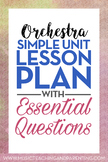 Band, Orchestra, Choir Sample Unit Lesson Plan