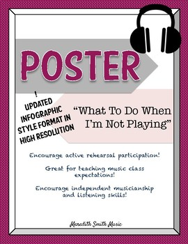Band/Orchestra Poster: What to Do When I'm Not Playing *NEW LAYOUT* *Bold Color*