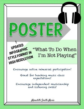 Band/Orchestra Poster: What to Do When I'm Not Playing *NEW LAYOUT*Bright Color*