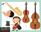 Band, Orchestra and Instrument Clip Art Bundle