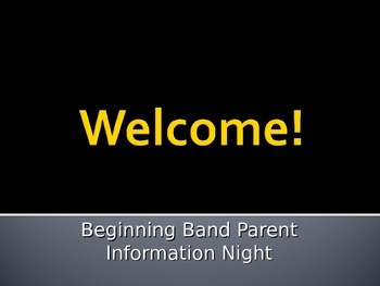 Band Parent Night Presentation