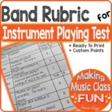 Band Performance Playing Test Rubric