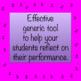 Band Post Concert Reflection Worksheet