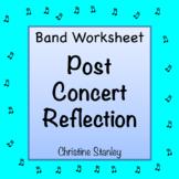 Band Concert Reflection Worksheet