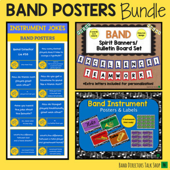 Beginning Band Music Posters BUNDLE: A Music Bulletin Board Set