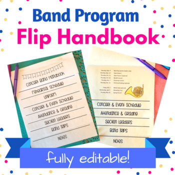 Band Program Handbook - Flipbook - Fully Editable!