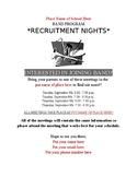 Band Recruitment Flyer