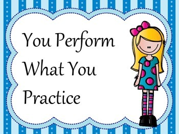 Band Rehearsal and Performance Tip Posters