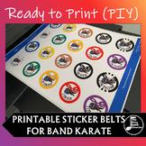 Band Scale Ninja/ Band Karate PIY (Print it yourself) Belt