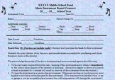 Band School Instrument Rental Contract