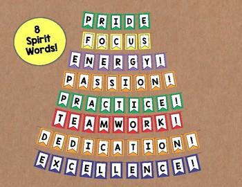 Band Spirit Banners/Bulletin Board Set {Chevron}