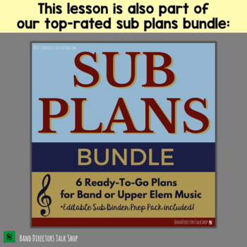 Band Substitute Lesson Plan (Teaches Meter - for a non-music sub!)