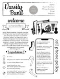 Band Syllabus - Easy to edit in Google Slides