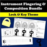 Band Three Note Naming and Fingering Worksheet - Lock and