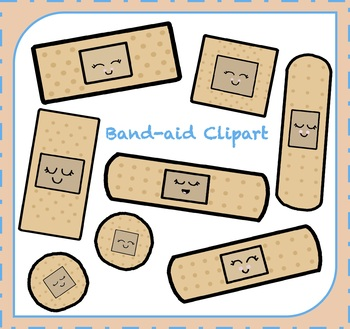 Bandaid Clipart / First Aid Clipart / Safety Clipart