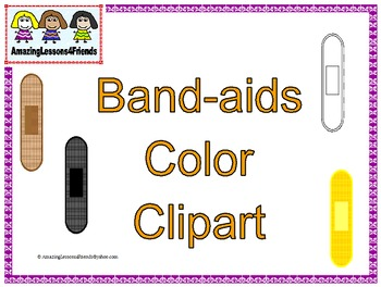 Band-aids Color Clipart