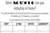 Band and Orchestra Data Binder