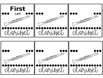 Band and Orchestra Name Tags **EDITABLE**