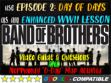 """Band of Brothers Guide & Normandy """"D-Day"""" Map Activity (35-slide PPT & handouts)"""