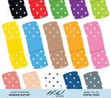 Bandages Digital Clip Art - Digital File - Bandaid Clipart - Band Aid Clipart