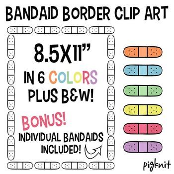 Bandaid Border Clip Art, Bandaid Background, Bandaid ClipArt Frame