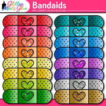 Bandaid Clip Art - Bandage Clip Art - Nurse's Office -Digi