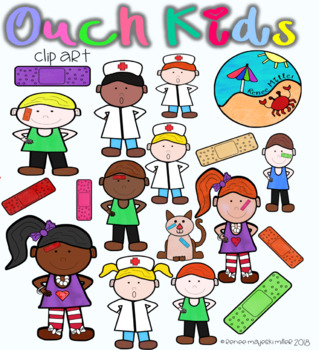 "Bandage Clip Art: ""Ouch"" Kids"