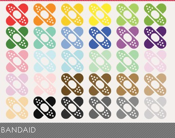 Bandaid Digital Clipart, Bandaid Graphics, Bandaid PNG