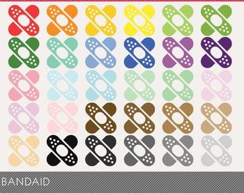 Bandaid Digital Clipart, Bandaid Graphics, Bandaid PNG