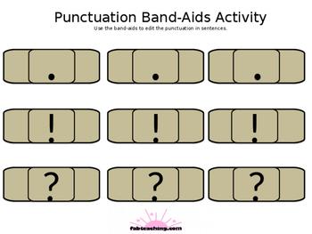 Bandaid Punctuation activity